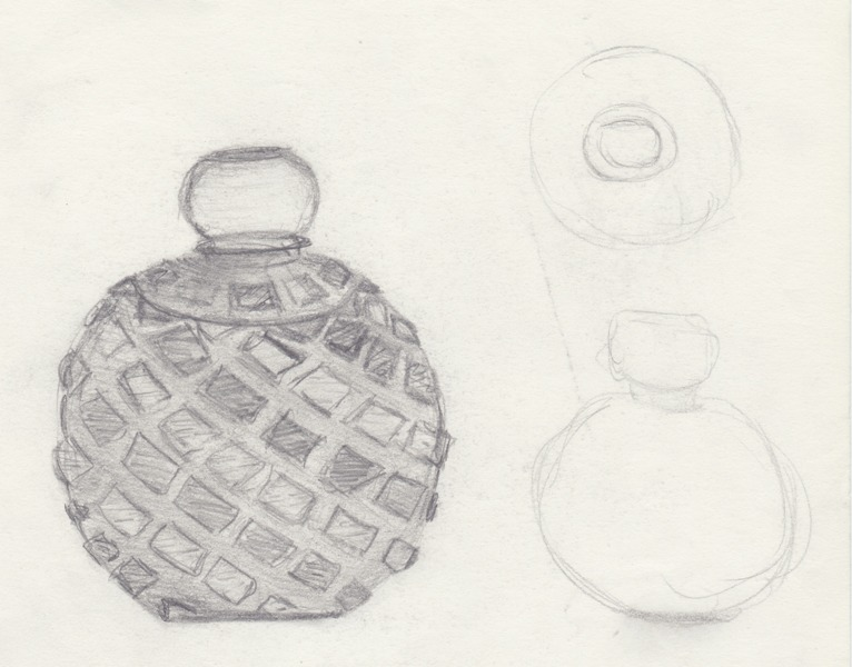 Perfume Bottle Tattoo Sketch