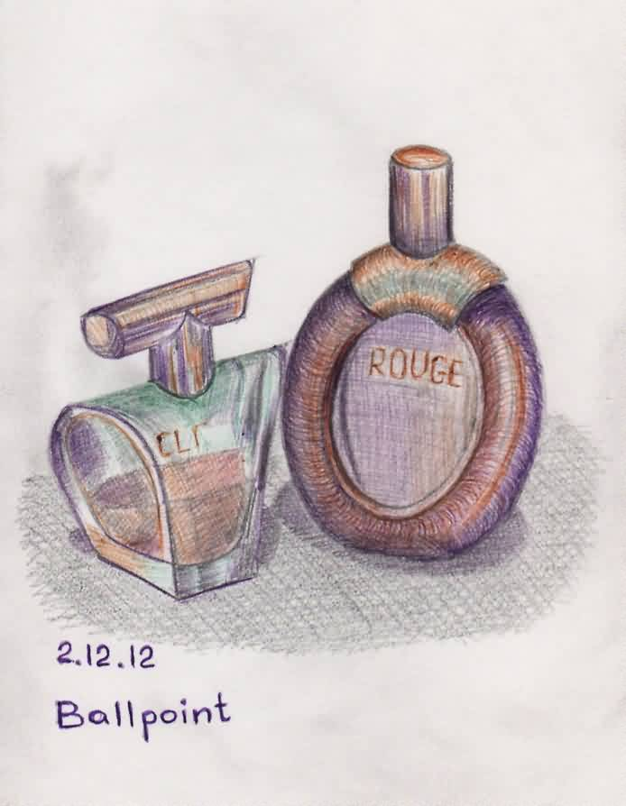 Perfume Bottles Tattoos Drawing