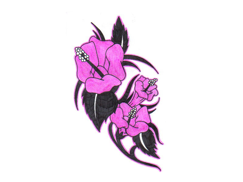 Pink Tulips Tattoo Idea