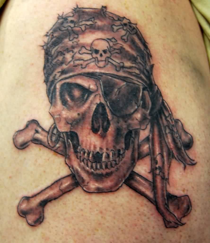 Pirate Skull And Cross Bones Tattoo