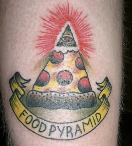 Pizza Food Pyramid Tattoo