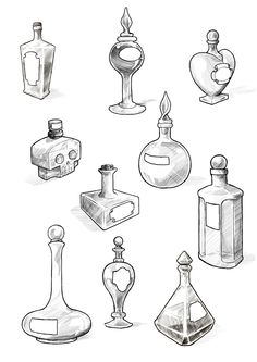 Poison Bottles Tattoos Drawing