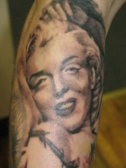 Popular Lady Portrait Tattoo