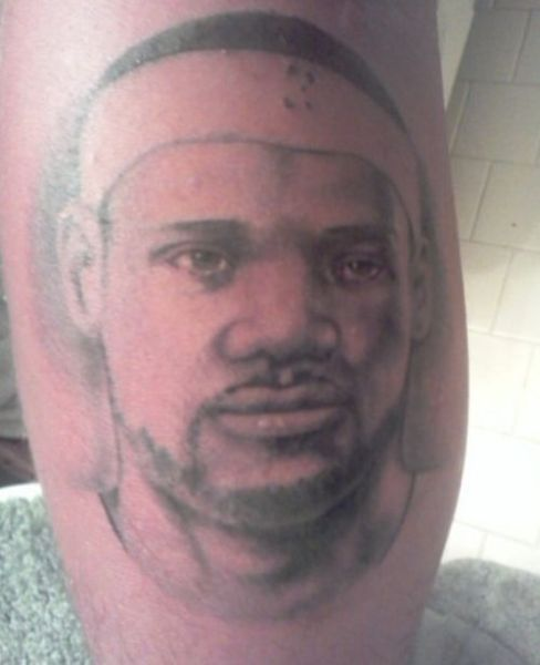 Portrait Tattoo Of Lebron James