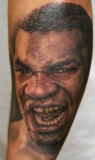 Portrait Tattoo Of Mike Tyson