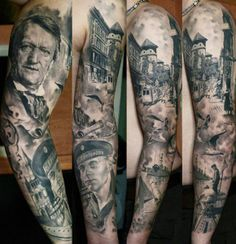 Portrait Tattoos On Sleeve (2)