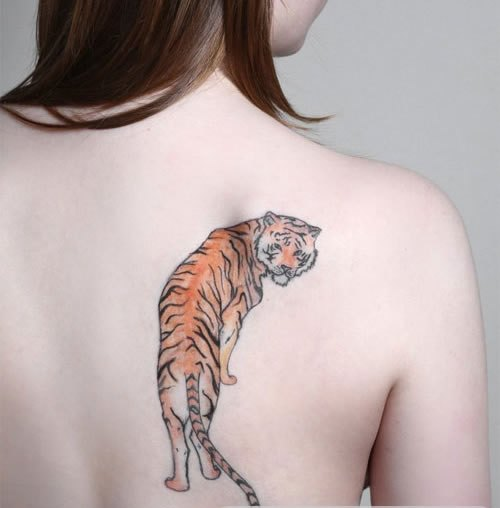 Pretty Tiger Tattoo For Girls And Women
