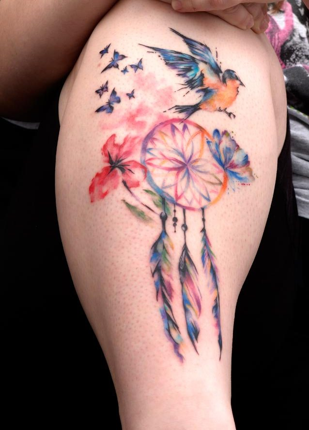 Pretty Watercolor Tattoos