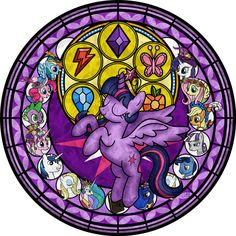Princess Twilight Stained Glass Tattoo Design