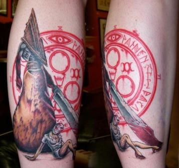 Pyramid Head And Silent Hill Nurse Tattoos