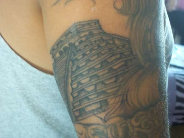 Pyramid Tattoo On Biceps