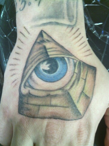 Pyramid With Eye An Color Tattoo