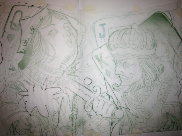 Queen And King Tattoos Sketch