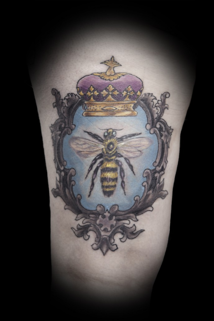 Queen Bee Frame Tattoo