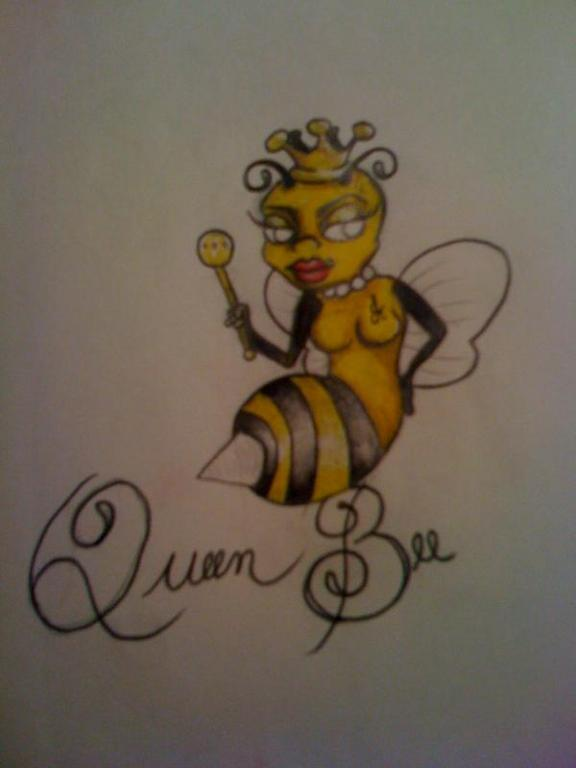 Queen Bee Tattoo Print