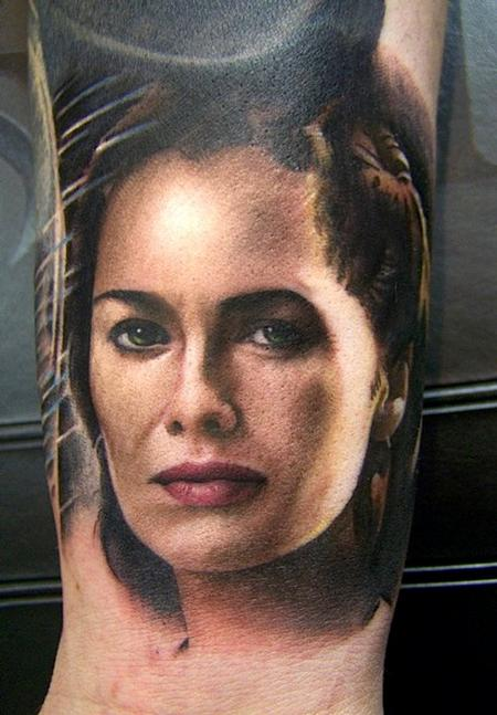 Queen Gorgo Potrait Tattoo