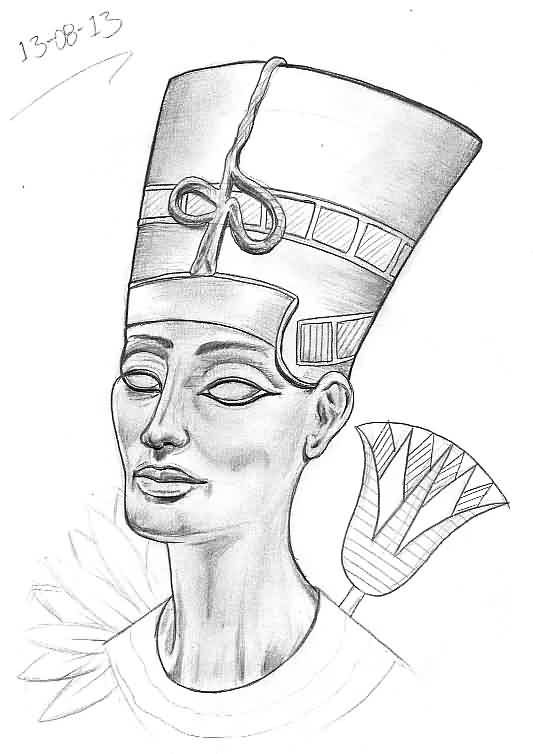 Queen Nefertiti Tattoo Drawing