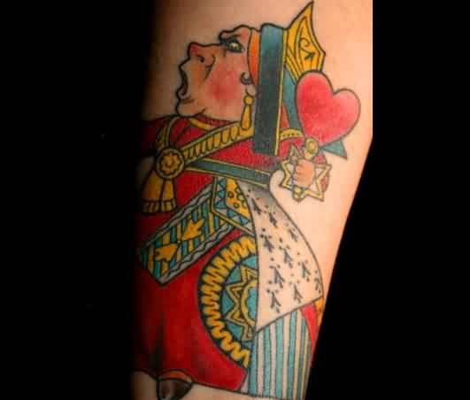 Queen Of Hearts Alice In Wonderland Tattoo