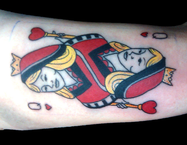 Queen Of Hearts Lovely Tattoo