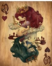 Queen Of Hearts Tattoo Design Again