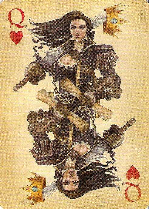 Queen of Hearts Tattoo Print (2)