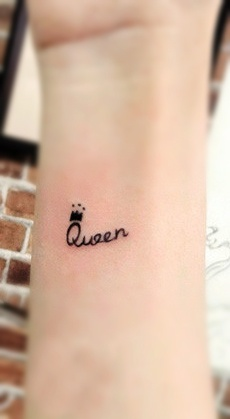 Queen Tattoo Near Wrist