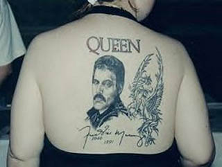 Queen Upperback Tattoo For Women