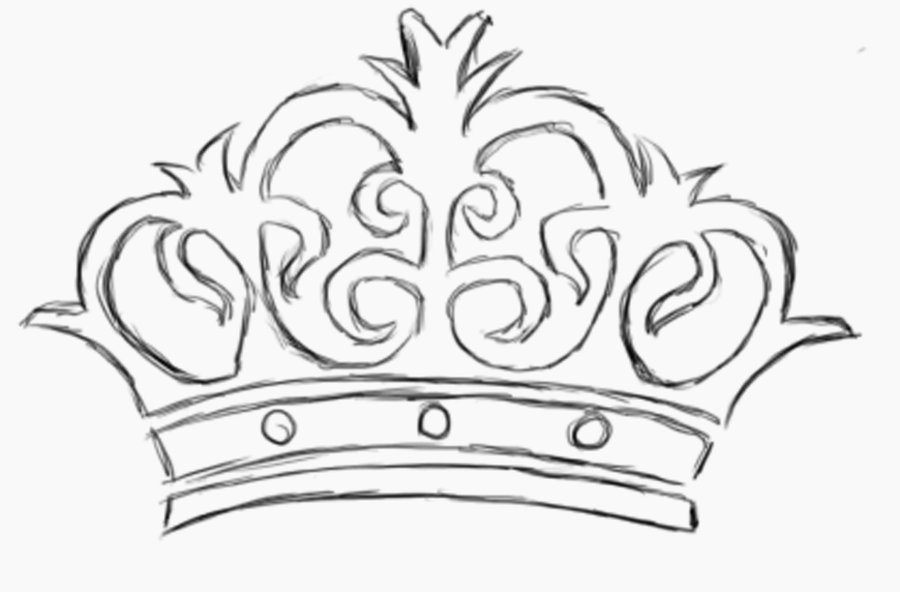 Queen's Crown Tattoo Sketch