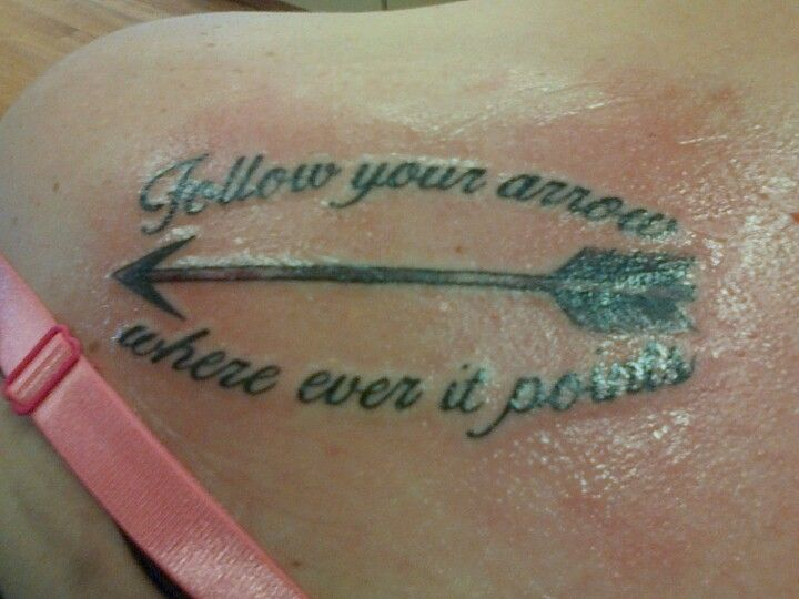 Quote And Arrow Tattoo