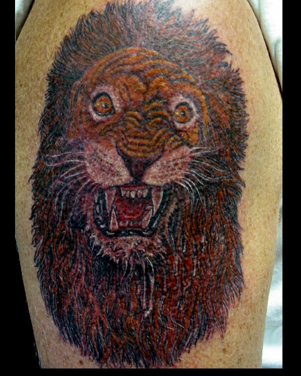 Rare Lion Animal Tattoo