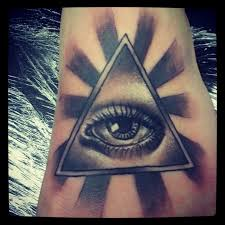 Rays And Eye Pyramid Tattoos
