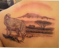 Realistic Animal Leopard Tattoo
