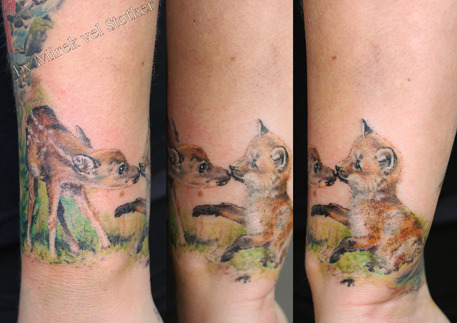 Realistic Cute Animal Tattoos