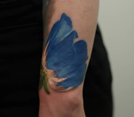 Realistic Tulip Flower Tattoo On Wrist