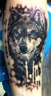 Realistic Wolf Tattoo On Arm