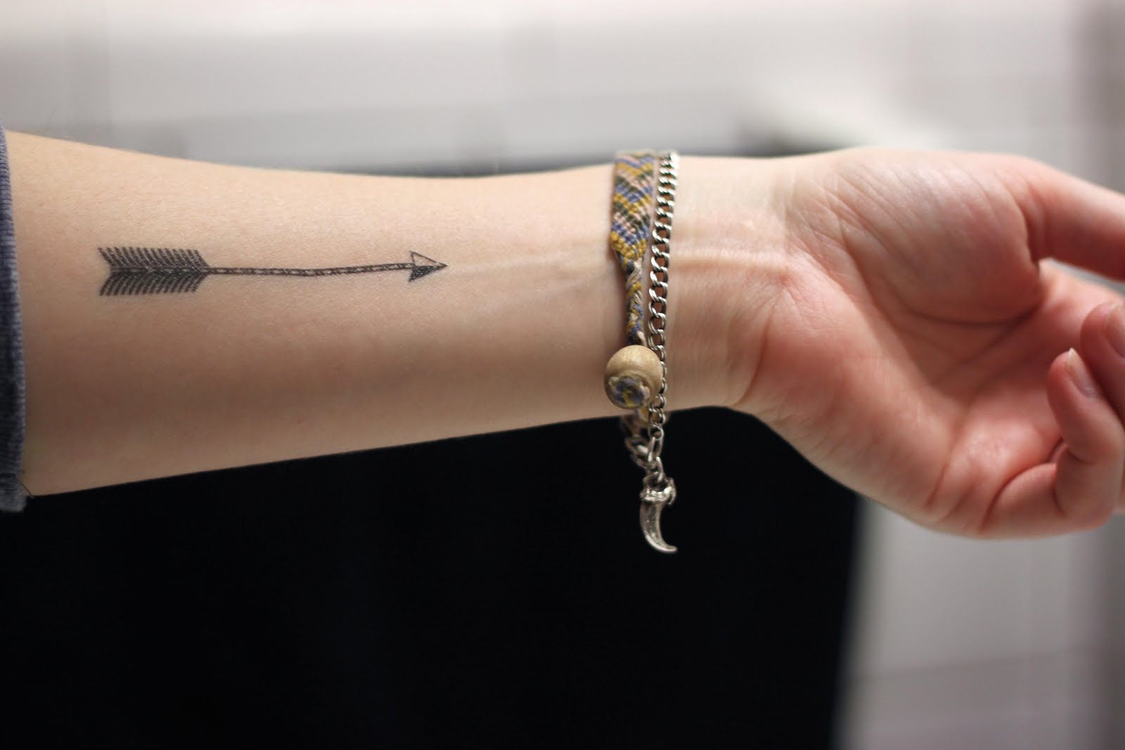 Really Amazing Arrow Tattoo Near Wrist