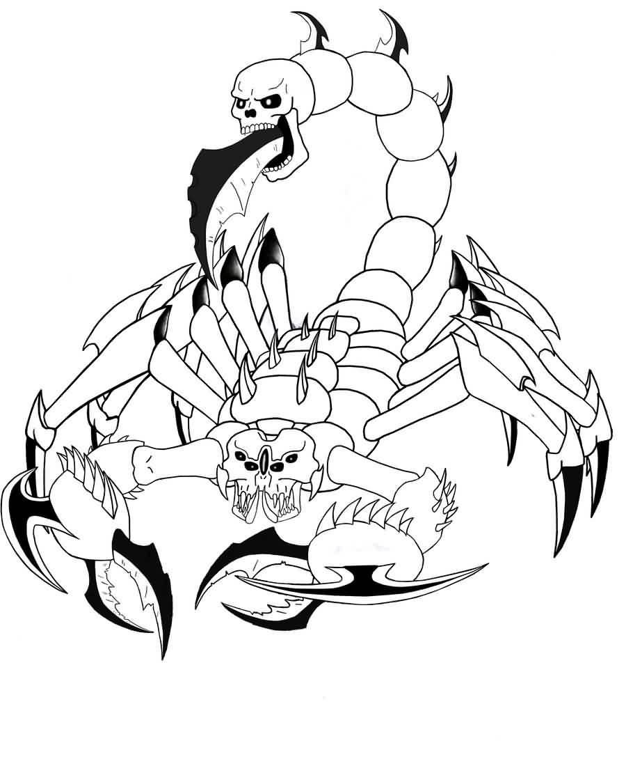 Reaper Scorpion Tattoo Sample