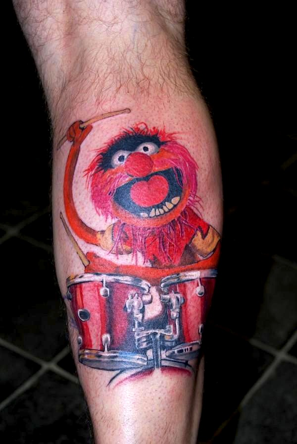 Red Animal Muppet Tattoo