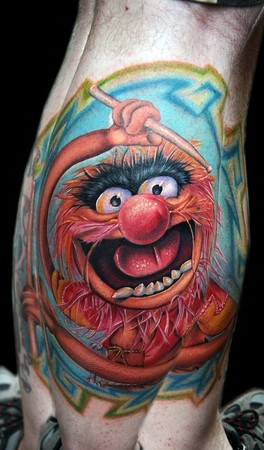 Red Nose Animal Tattoo