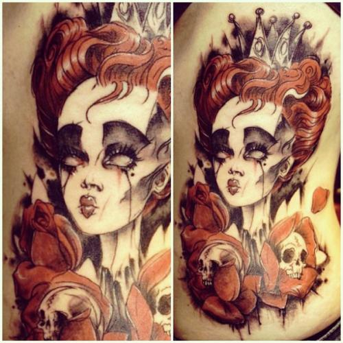 Red Queen From Alice In Wonderland Movie Tattoos