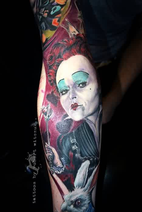 Red Queen Tattoo On Sleeve