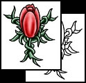 Red Tulip Tattoo Design
