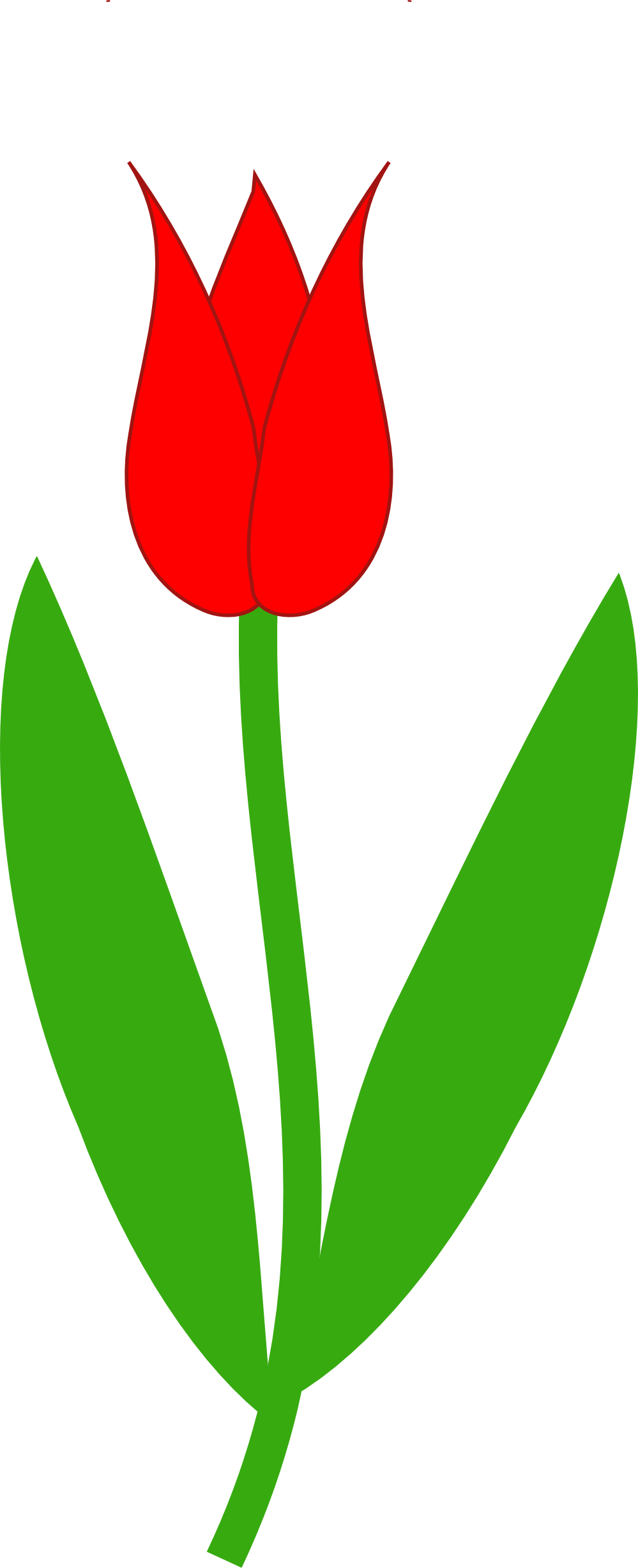 Red Tulip Tattoo Version
