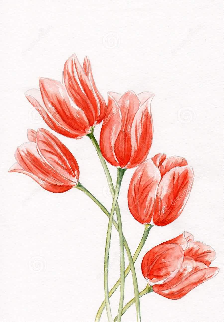 Red Tulips Tattoo Designs (2)
