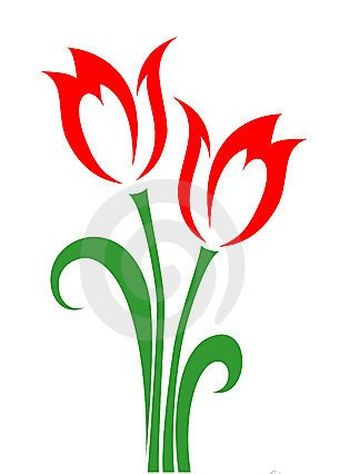 Red Tulips Tattoo Designs