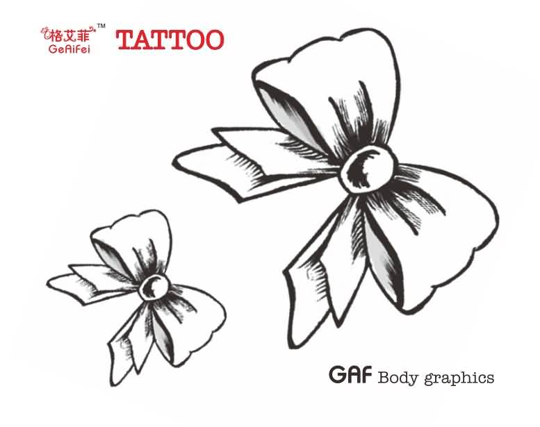 Ribbon Bow Tattoo Designs (2)
