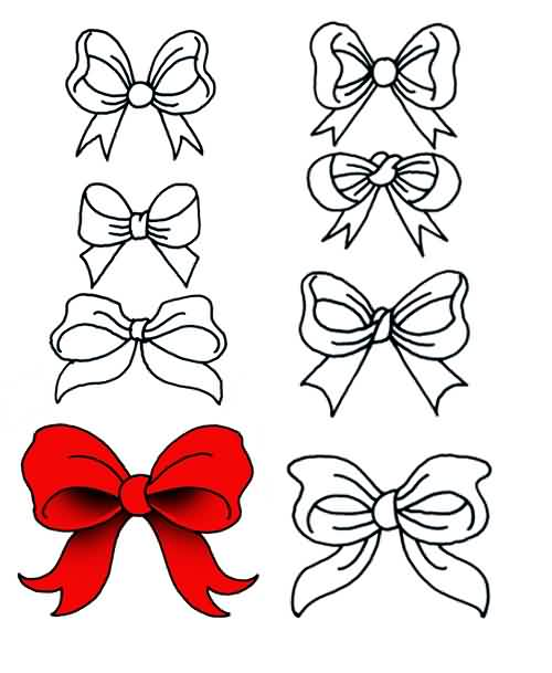 Ribbon Bow Tattoo Designs