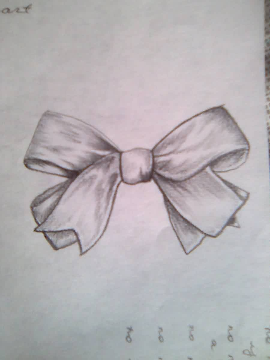 Ribbon Bow Tattoo Sketch (3)