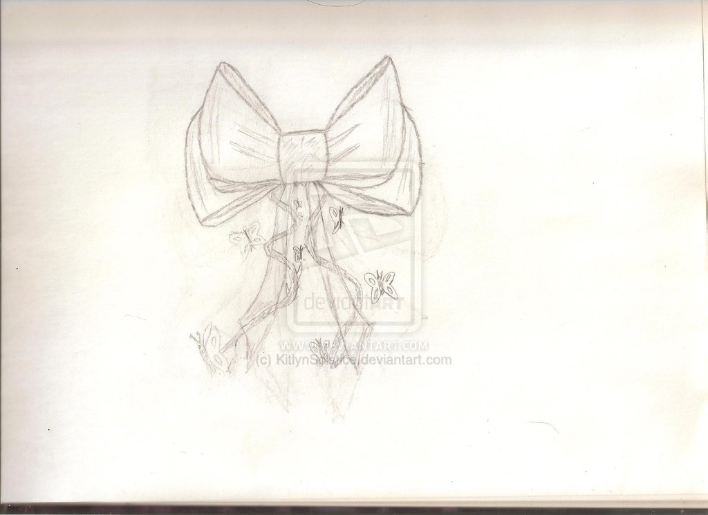 Ribbon Bow Tattoo Sketch (4)