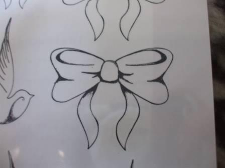 Ribbon Bow Tattoo Sketch